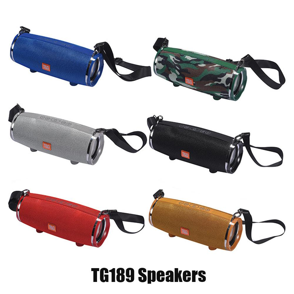 TG189 المحمولة اللاسلكية الكبير سماعات بلوتوث الموسيقى مشغل MP3 مقاوم للماء سوبر باس مضخم SD بطاقة لاعب مع هيئة التصنيع العسكري مع الكتف