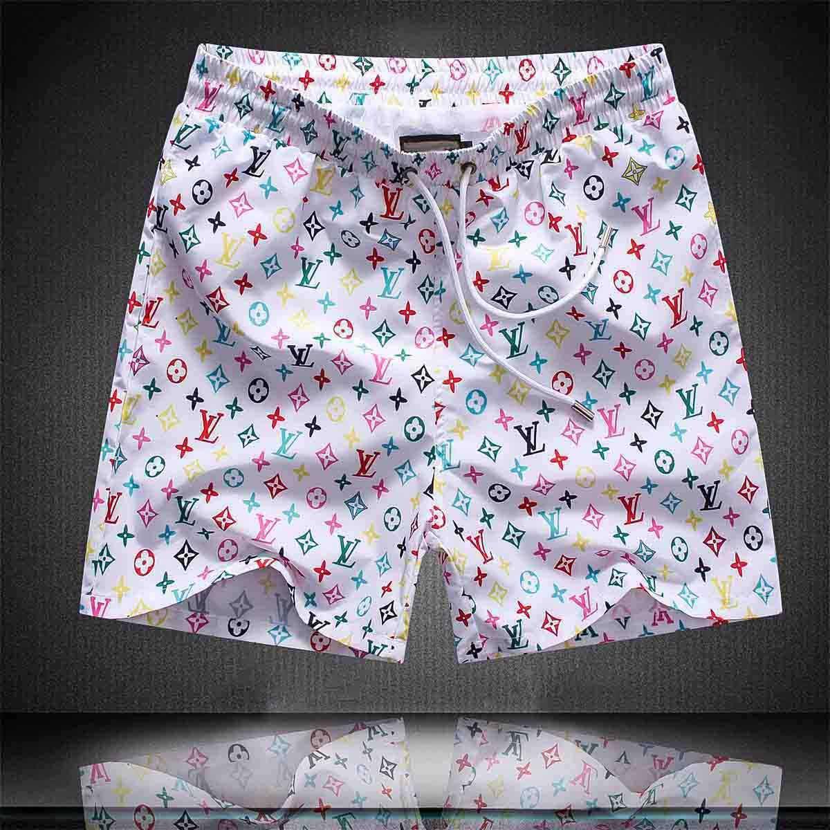 Lettre Designer avancée Imprimer Short Board Shorts Medusa Summer Beach Surf Shorts Pantalons Natation Hommes