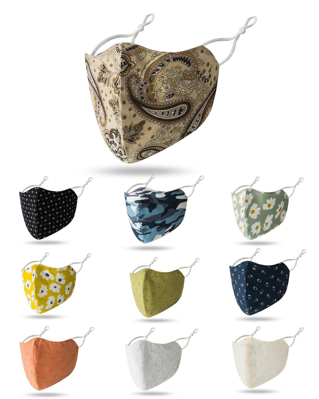 Pamuk Yüz Mouth kafes Karşıtı Toz Karşıtı Kirliliği Maske Moda Kasımpatı kamuflaj Yüz Ağız Maskeleri Maske