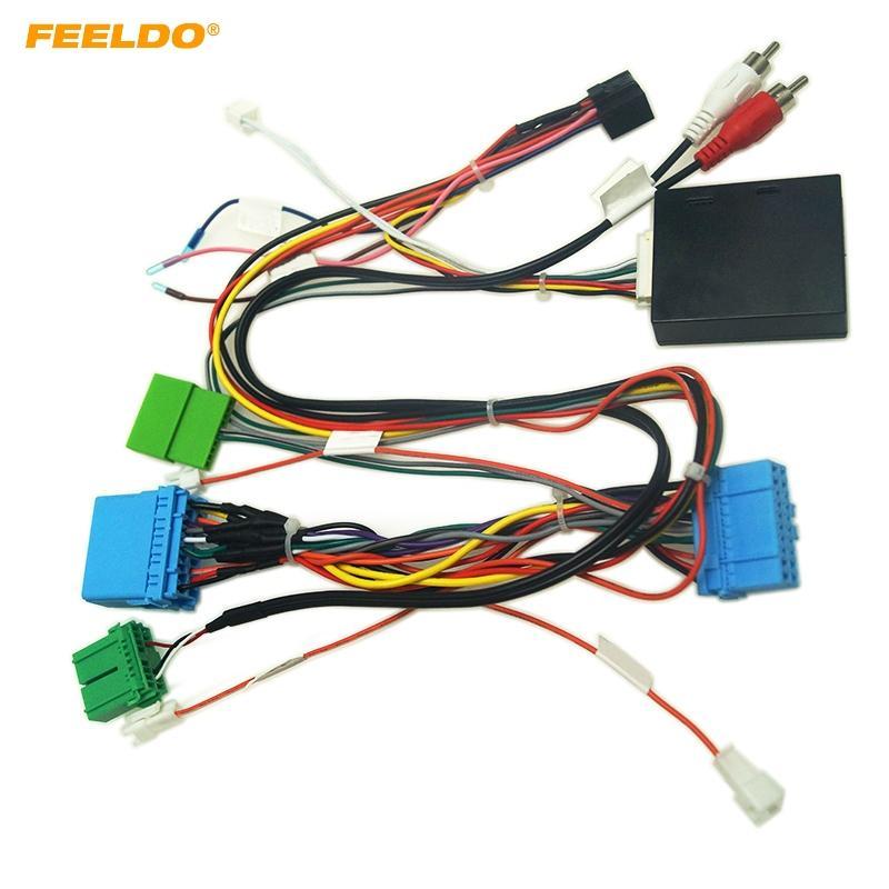 Cable adaptador estéreo FEELDO Car Audio 16PIN Poder Android con CANBUS caja para Honda Odyssey 04-08 arnés de cableado # 6485