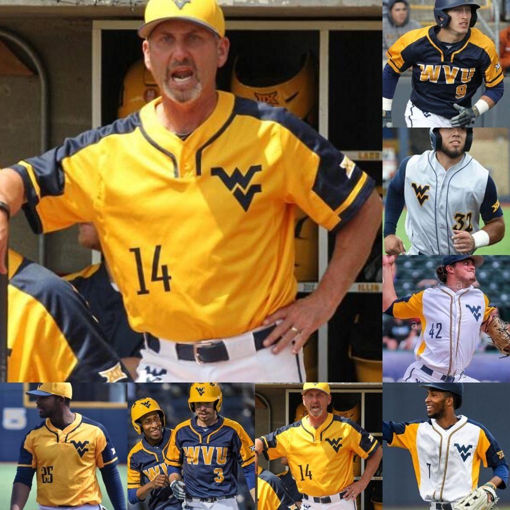 Virginie Ouest Virginie Montagne Baseball Couts Jersey Kade Kade Strowd Alek Manoah Marques Inman Ivan Gonzalez Tyler Doanes Darius Hill WVU Jerseys