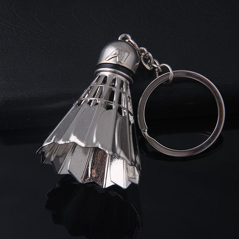 Цинковый сплав Бадминтон брелок для мужчин Женщины брелок ювелирных изделий брелока держатель кольцо автомобиль сумка Подвеска Шарм брелок