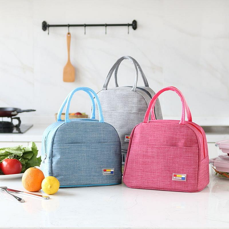 New Lunch Bag Fresh Insulation Cold Bales Thermal Oxford Waterproof Convenient Leisure Cute flower cartoon Tote bolso