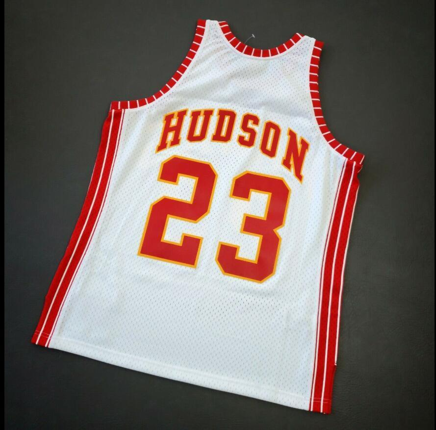 las mujeres jóvenes de Hombres Lou Hudson 72 73 Baloncesto Jersey del tamaño S-4XL o costumbres, cualquier nombre o el número del jersey