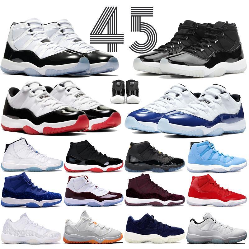 الرجال concord ولدت 11 11 ثانية jumpman أحذية كرة السلة 25th anclessary الفضاء المربيات منخفضة الأسطورة الأزرق المرأة رجل الرياضة في الهواء الطلق المدربين أحذية رياضية