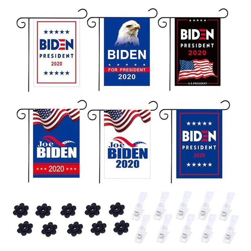 ABD Başkanlık Kampanya Biden çift Bayrak için 2020 Biden Bahçe Banner Açık Sokak Banner Reklam T3I5940 olduğunu