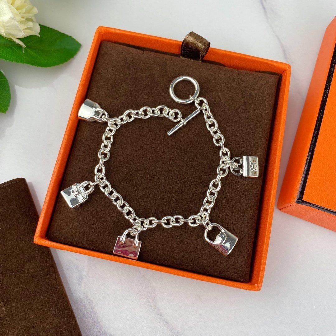 bracelet concepteur bracelet anneaux sac femmes bijoux de luxe boucles d'oreilles bracelet chaînes d'or mens chaîne de lien cuban