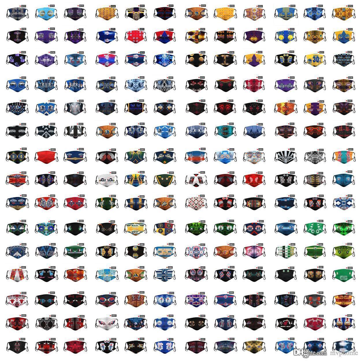 DHL-freies Verschiffen 2020 neue Designer-Gesichtsmaske Staub 2020nba Basketball-Team Persönlichkeit Maske Maske PM2.5 Masken Mischaufträge platzieren