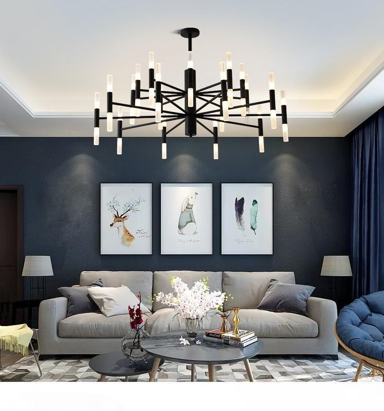 Moderna Fashion Designer Black Gold Led soffitto Art Déco sospeso Lampada lampadario luce per Cucina Soggiorno camera da letto Loft