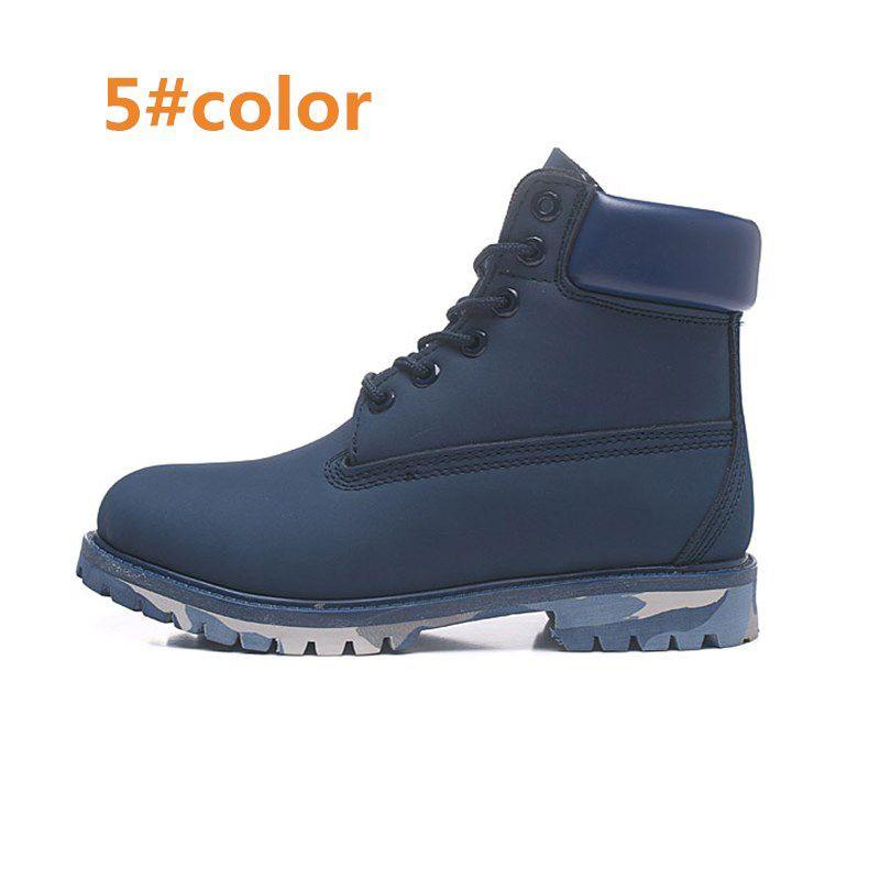 Hombres Mujeres Impermeable Botas al aire libre Casual Martin Botas Senderismo Zapatos Deportes Marca Parejas De Cuero Genuino Botas De Nieve Alto Corte Invierno