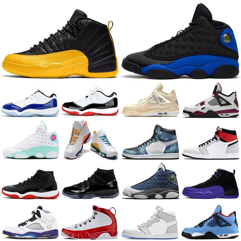 outdoor basketball shoes smoke grey 1s 11s Concord 12s Hyper Royal 13s Flint 5s Grape 9s sail 4s womens mens trainers Sports Sneakers