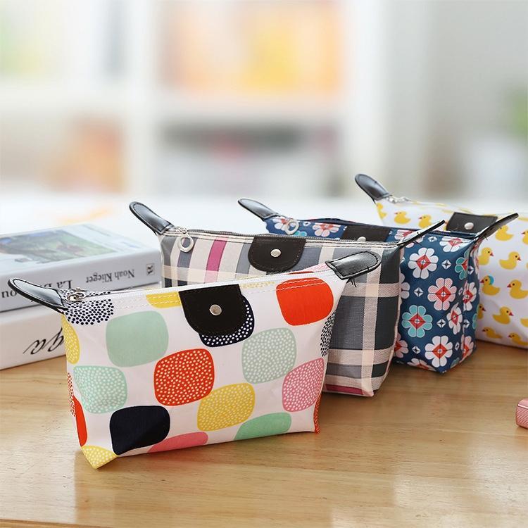 colore stile coreano bagagli trucco gnocco gnocco pu borsa femminile Tipo pieghevole custodia trucco waterproof