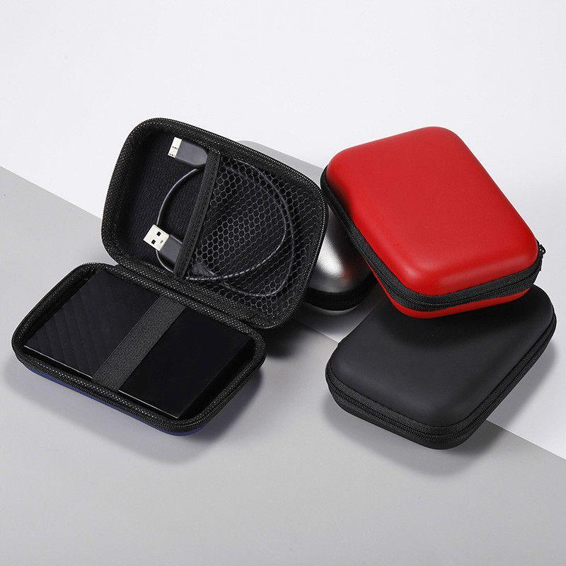 """2.5 """"USB HDD حقيبة الخارجية القرص الصلب التخزين حقيبة حمل كابل الناقل التسلسلي العام تغطية حالة لأجهزة الكمبيوتر المحمول صندوق القرص الصلب"""