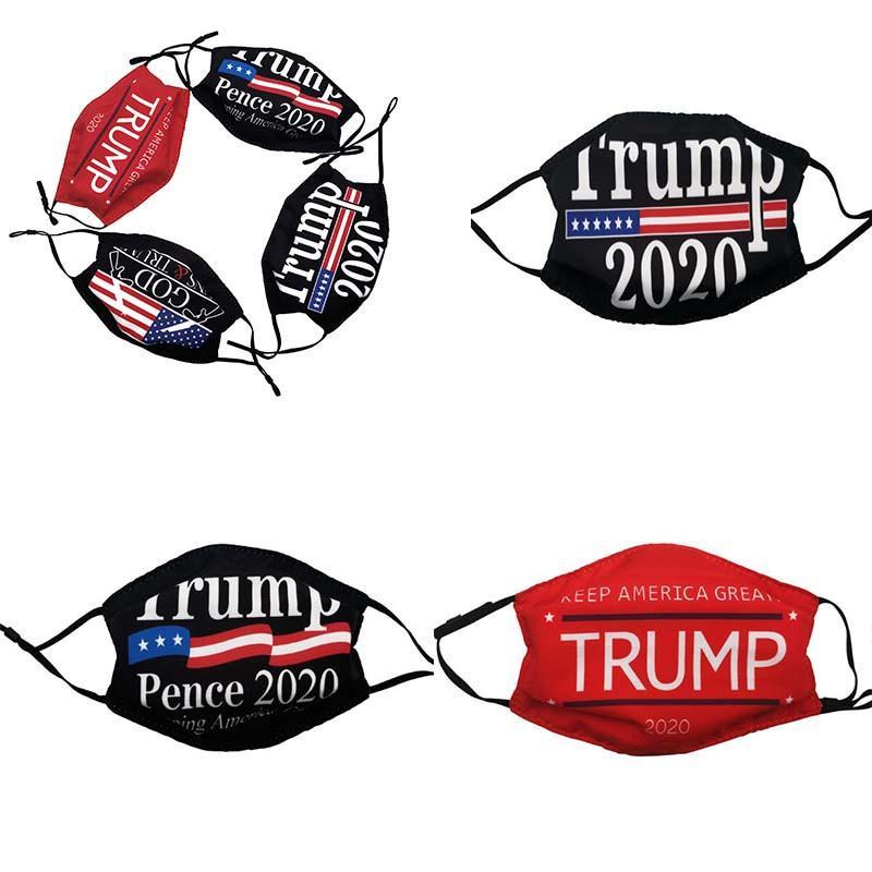 Quente Trump Face Máscara Americana Bandeira Nacional Impresso Máscaras Anti-Poeira Trump 2020 Boca Capa de Máscara Ao Ar Livre Masks Da654