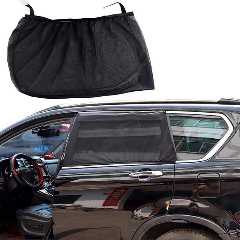 2Pcs Car Sun Shade Block UV Protection Car Curtain Window Sunshade Side Window Mesh Sun Visor Summer Protection Film