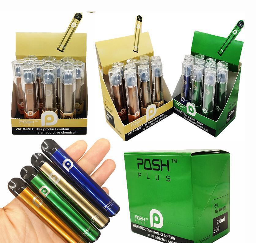 Yeni Posh Artı 20ml Pod Tek Vape Kalem Cihaz Bölmeler Kartuşları Setleri Buharlaştırıcı 450Mah Pil 6 Tek Kullanımlık iITNg zlhome Packaging boş