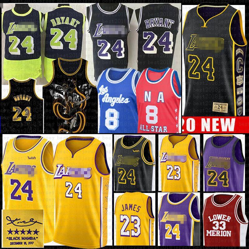 Леброн Джеймс 23 Нижний Мерион 8 33 BRYANTбаскетбол колледжа Джерси Мужская молодежь Детские NCAA Лос-АнджелесЛейкерсТрикотажные изделия