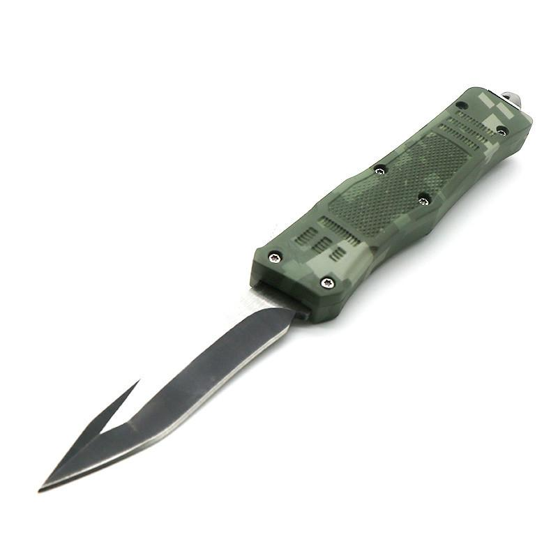 616 7 polegadas 7 polegadas camo verde 8 modelos lâmina de dupla acção de caça de acampamento tático faca automática facas automáticas auto faca