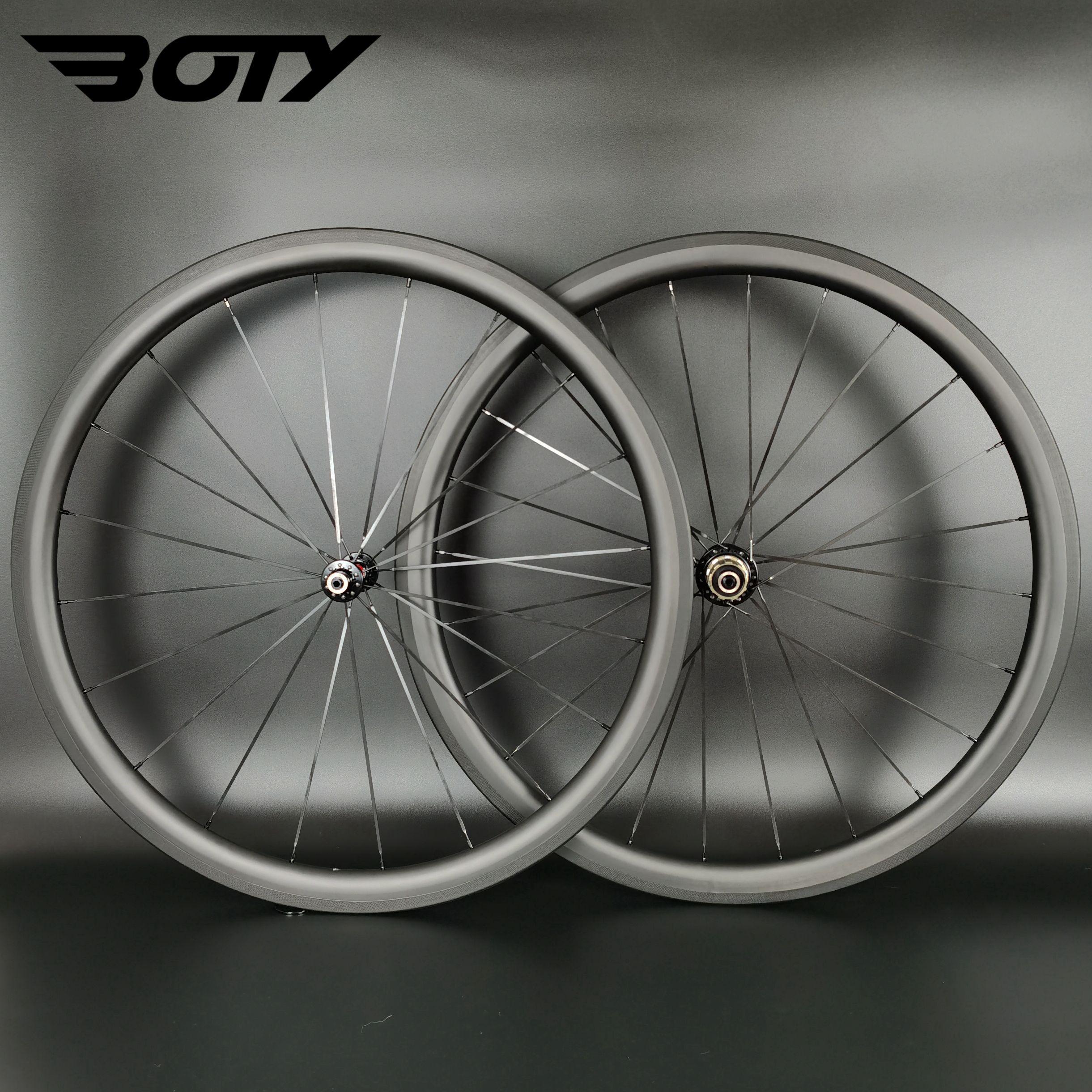 스프린트 초경량 등산 탄소 바퀴 38mm 깊이 25mm 폭, 클린 처 / 튜브리스 / 관 도로 자전거 탄소 바퀴 UD 매트 마무리