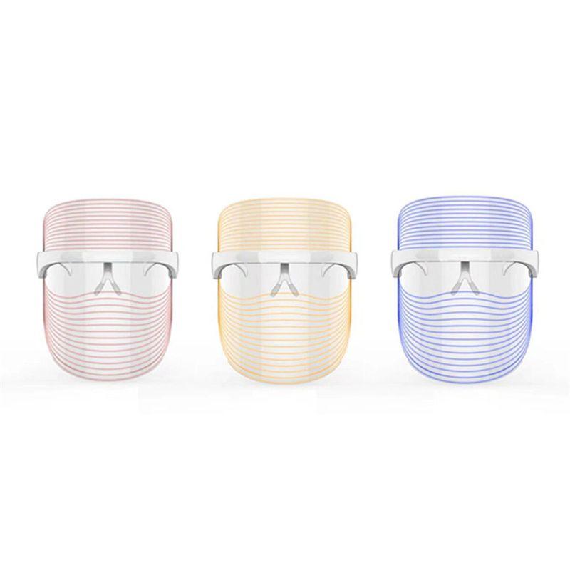 3 ألوان LED ضوء قناع الوجه مكافحة حب الشباب لمكافحة التجاعيد الوجه SPA صك علاج الجمال الوجه جهاز الجلد أدوات العناية