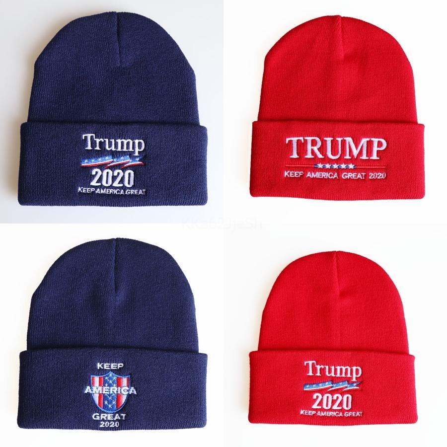 Trump 2020 президент Вязаные шапки Keep America Great Вышивание зима теплая Горнолыжная Вязаные шапки Открытый Вязание шапочки Cap 10 Стиль Выберите # 808