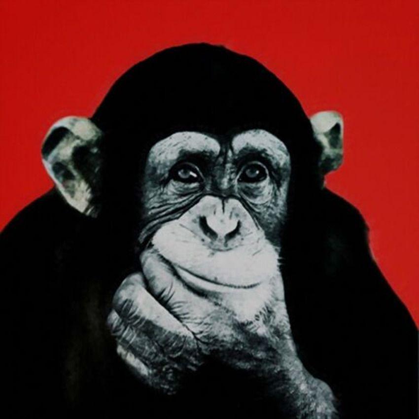 Andy Warhol arte pop del mono Pensamiento Decoración Artesanías / impresión de HD pintura al óleo sobre lienzo arte de la pared de la lona representa 4101