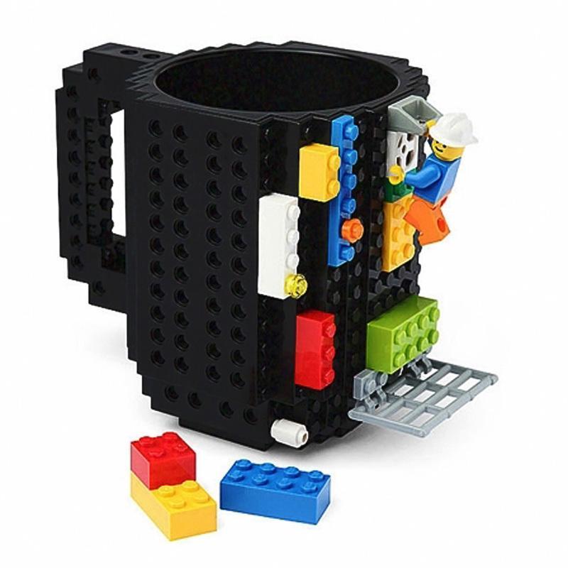 Build-On Brick for lego Mug DIY Bulding Blocks Coffee Mugs 350 ml Creative Drinkware BPA Free mug Birthday Gifts Tazas milk cup