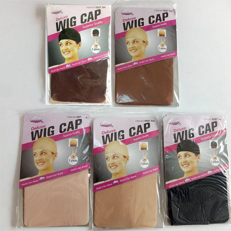 12 штук качества клиренса качества Deluxe Wig Cap Cap Net для плетения волос парики сетевые сетки парики для изготовления париков свободный размер