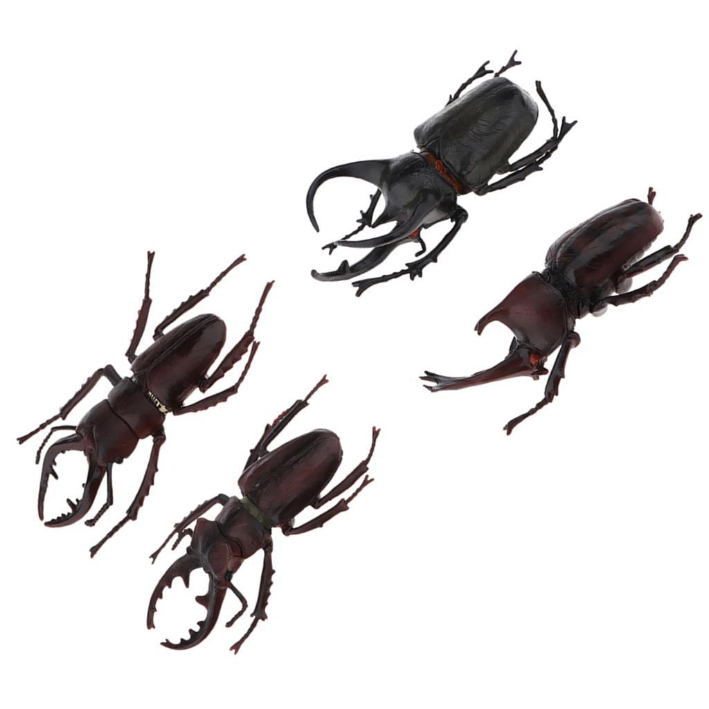 Realistas de plástico Insetos Figura Toy Bug modelo animal Estatueta Natureza Props