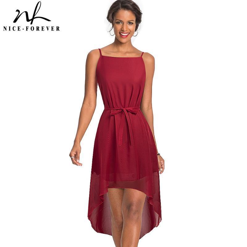 Kayış şifon Kadınlar Flared Elbise 368 ile Nice-sonsuza Yaz Bohemian Plaj Günlük Elbiseler