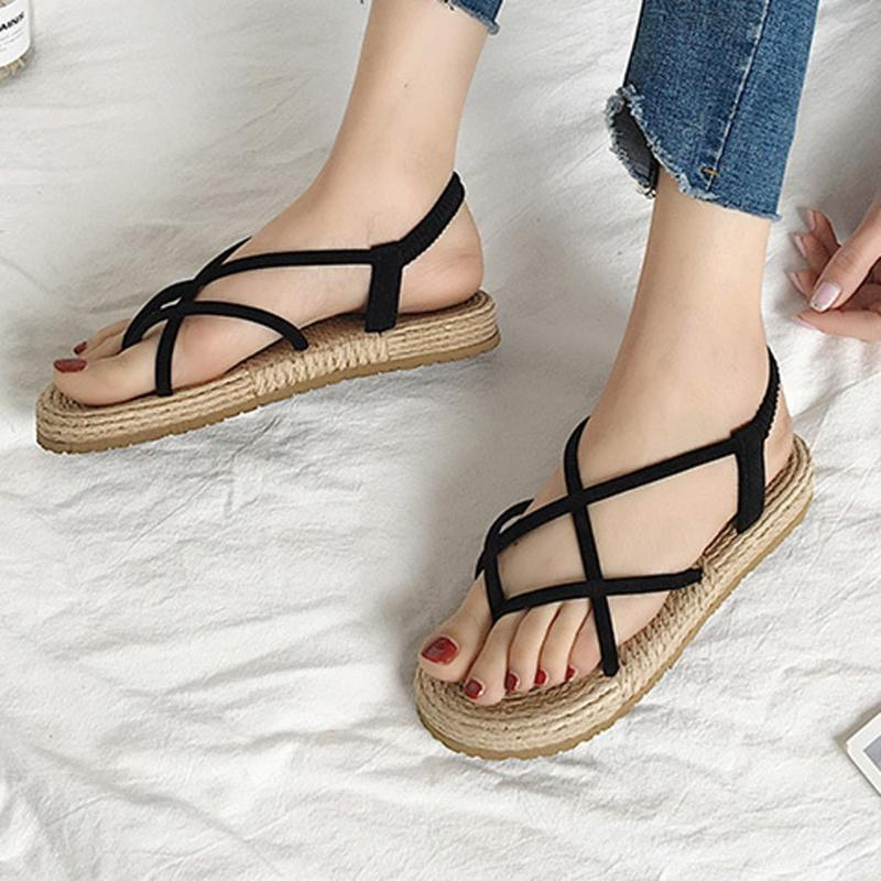 Womens Summer Fashion Outdoor Large Size Woven Flat Sandals Women Non Slip  Beach Shoes Ladies Roman Style Sandals Buty Damski#3 Gold Shoes Flat Shoes  From Classycolor, $19.48| DHgate.Com