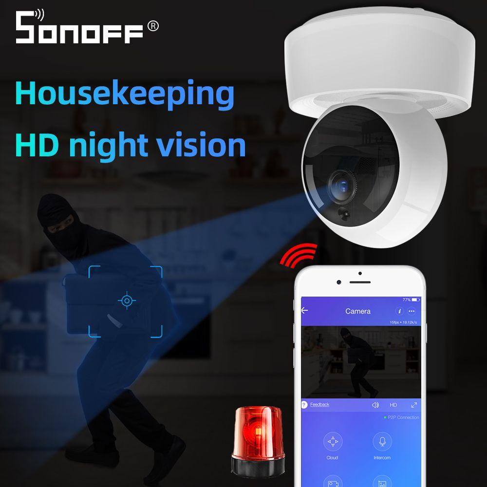 العمل إنذار SONOFF GK-200MP2-B 1080P HD اللاسلكية الذكية واي فاي كاميرا IP البسيطة Ewelink 360 IR الطفل الأمن مراقب مع صفحة Google الرئيسية