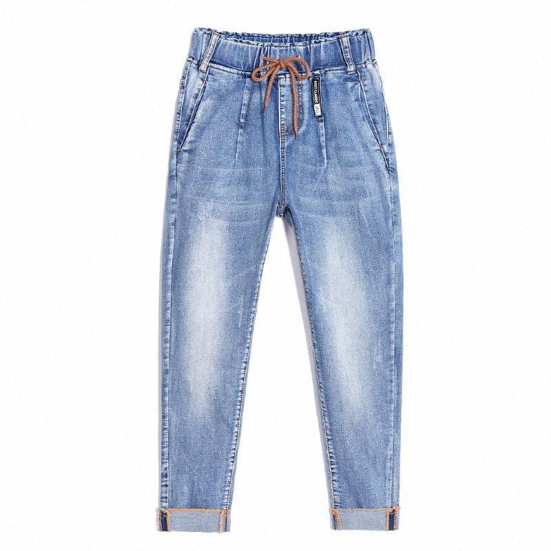 2020 2020 nuevo diseño especial elástico novio de mujeres Jeans mujer más tamaño sueltan los pantalones vaqueros de cintura alta Stretch Denim Haren pantalones Femme w5jS #
