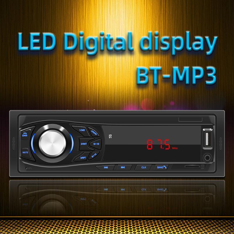 SWM-1033 원격 제어로 1 개 DIN 자동차 스테레오 블루투스 MP3 음악 플레이어 USB AUX 입력 TF 카드 Autoradio