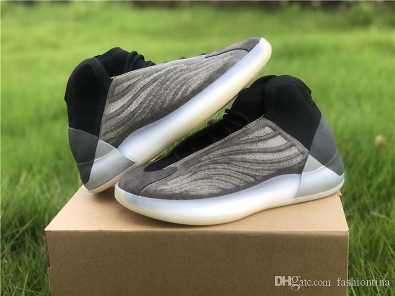 Новая версия Quantum Барий QNTM 3M Reflective Kanye West Мужские баскетбольные кроссовки обувь Спорт с оригинальным Box 4-12.5
