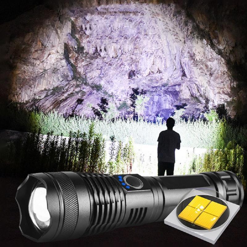 XHP50.2 XHP50 mais poderoso 5 modos USB Zoom levou lanterna xhp50 18650 ou 26650 bateria melhor camping, ao ar livre