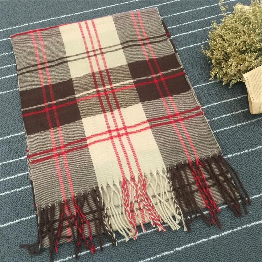 F02-1 twill cotton children's Warm cotton Baba Plaid tassel scarf boy and baby warm scarf