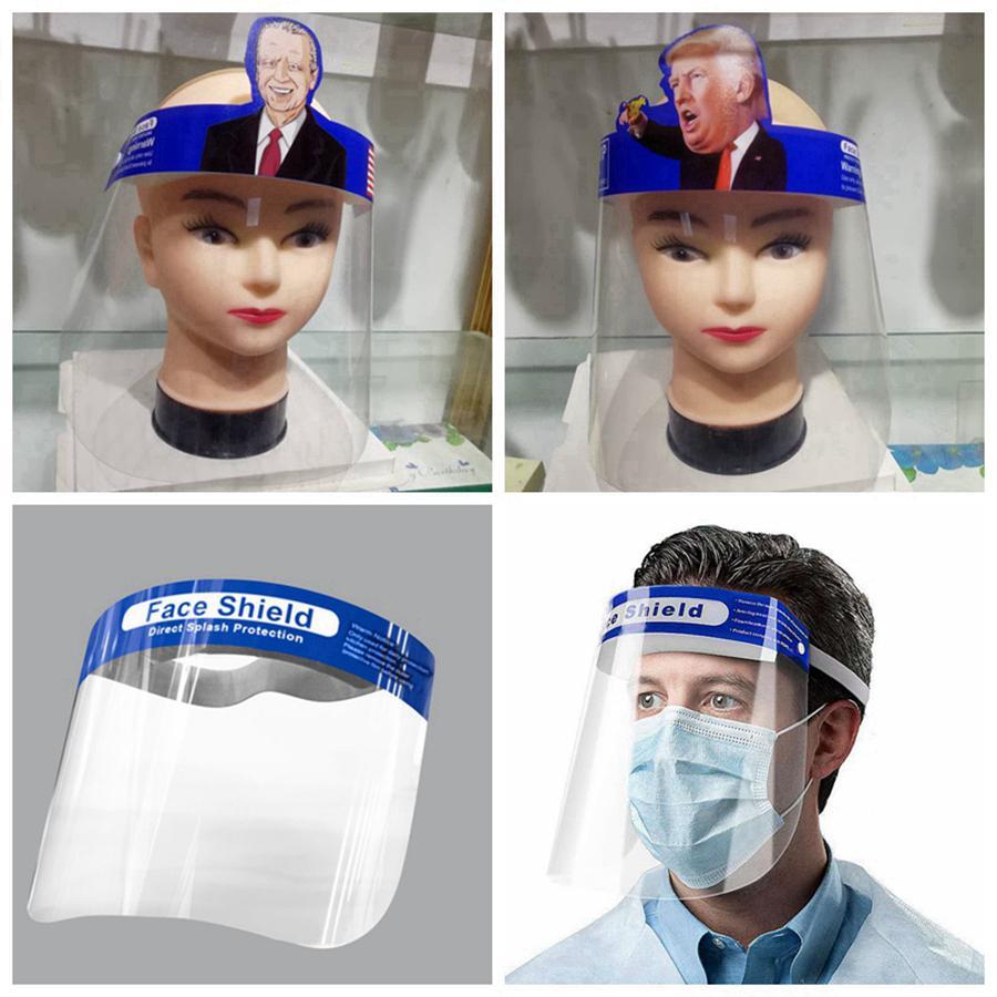 Adulti Trump sicurezza Visiera trasparente Full Face Protective Cover strumento anti-fog Visiera Trump maschere Designer RRA3339