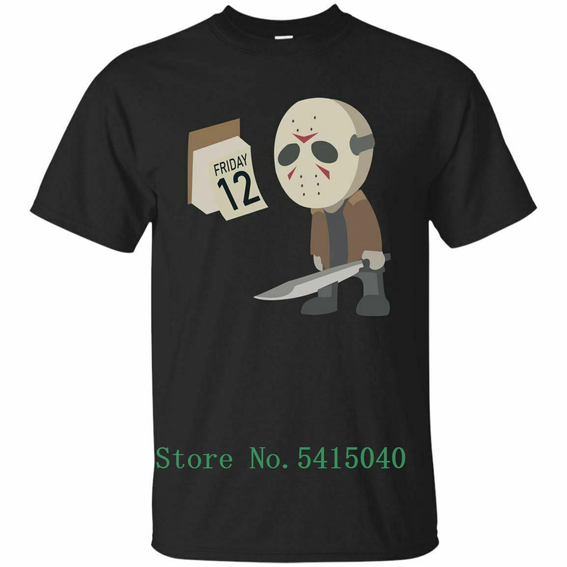 Horror Nueva Viernes 12 Halloween divertido envío gráfico de la camiseta Hombres Mujeres Moda Unisex camiseta