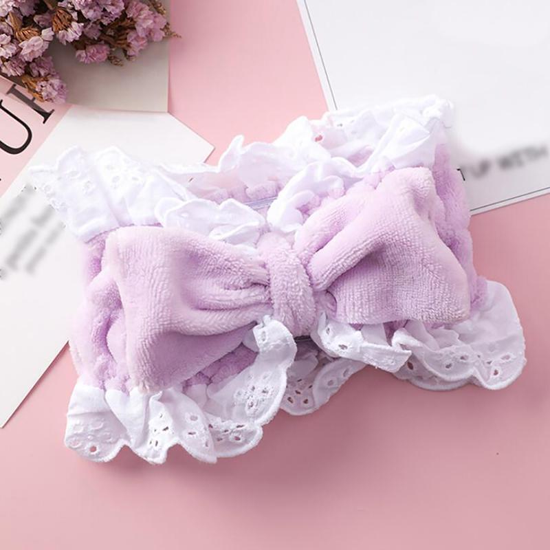 Coral Fleece Soft-Stirnband Kreuz Top Kont Haarband elastischer Haar-Band für Frauen-Mädchen-Gesicht wäscht Turban Kopfbedeckung Haarschmuck