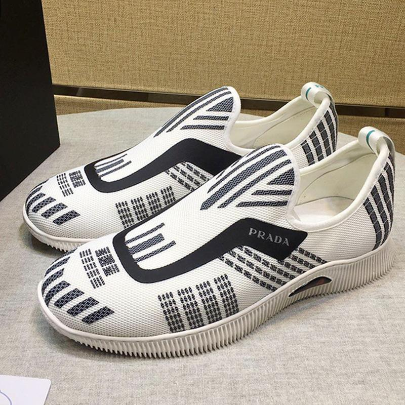 Spor Ayakkabı Erkek Sneakers Nefes Eğitmenler ile Orijinal Kutusu Kesit Örme Sneakers Scarpe Da Uomo Moda Ayakkabı Erkek On ayakkabı Kayma