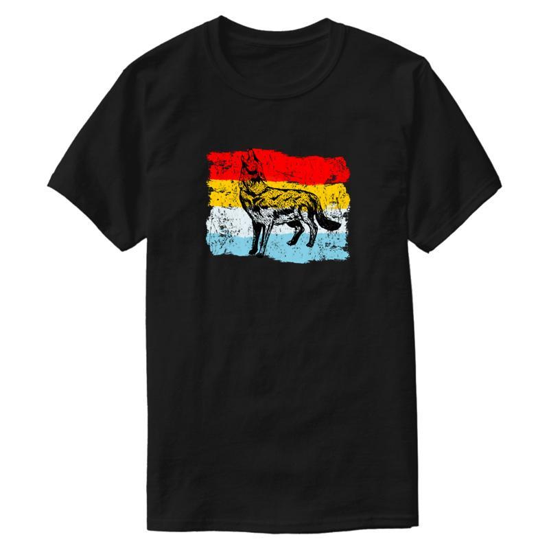 Personalizzato traspirante lupo maglietta 2019 Nero Plus Size 3XL 4XL 5XL Tshirt fitness anti-rughe Pop Top Tee Uomo Naturale