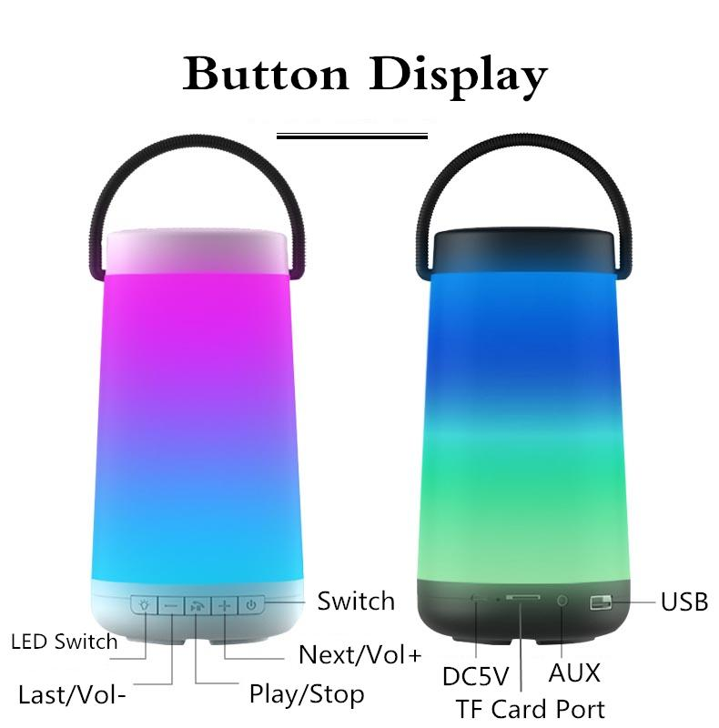 Lampe Lautsprecher LED-bunte Licht Bluetooth Lautsprecher intelligente Pulse Outdoor Wireless Stereo Boombox MP3 Surround caixa de som potail Einzelhandel Link