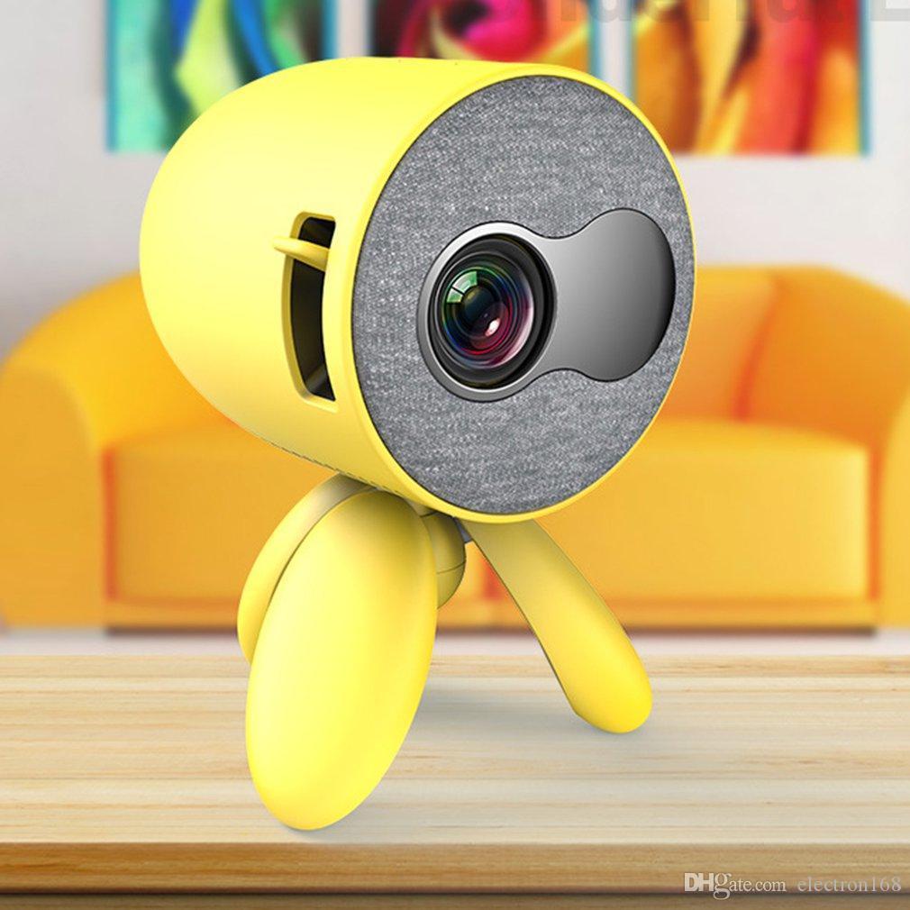 Home Théâtre YG220 Mini Projecteur 480 * 272 pixels Supports 1080P HDMI USB HDMI Portable Portable Cute Video Player Video Tête réglable pour enfants 6pcs