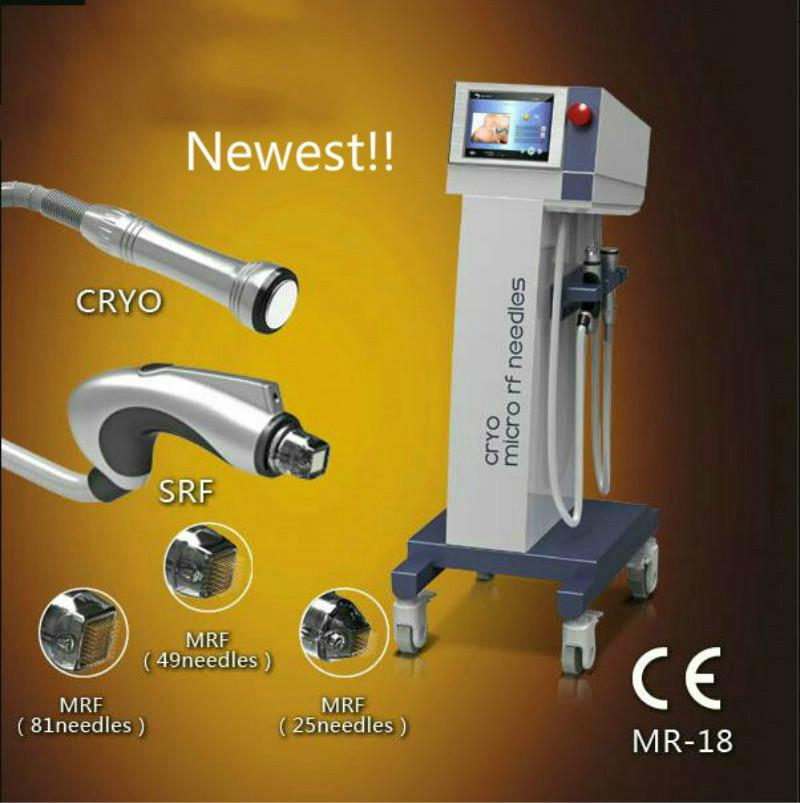 Top Qualität SRF + Cryo + PDT Microneedle RF Radio Frequency Schönheit Maschine für Falten entfernen und Gesicht Anziehen und Anheben