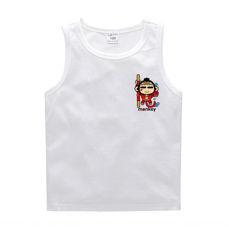 Корейский жилет одежды износа детей I-образный жилет основа рубашки сплошной цвет детских рукавов девочек хлопка мальчиков майку