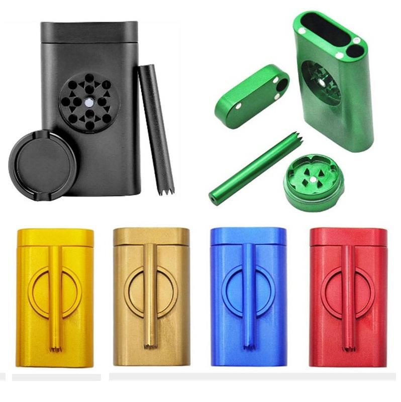 Pinch Hitter Pirogue Grinder Kit Nouveau 3 en 1 Grindercase pipe Etui en aluminium Kit de stockage de conteneurs populaire pour le tabac