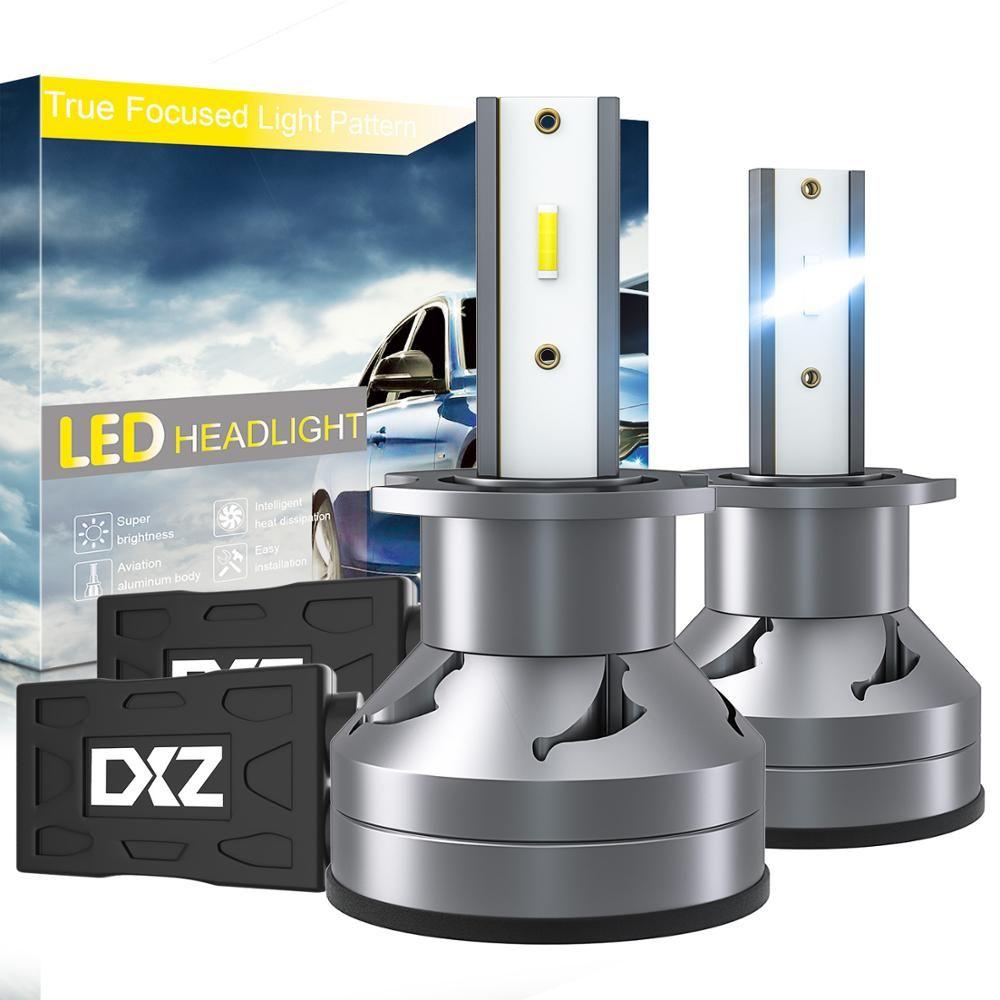 WINSUN 2PCS H3 60W 6000K 12000LM D1 LED السيارات العلوي كيت السيارات مصباح الضباب مرحبا أو لو لمبات الضوء