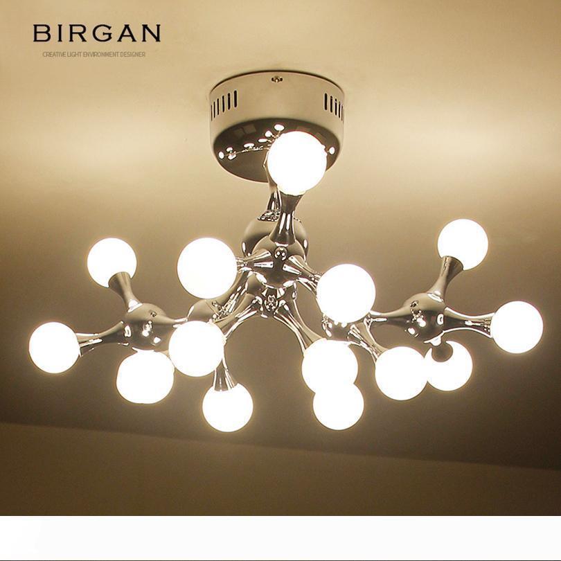 Vente chaude Lampe LED plafond Lustre moderne ronde Creative Home Cafe Personality Restaurant Hôtel moléculaire Pendant Light