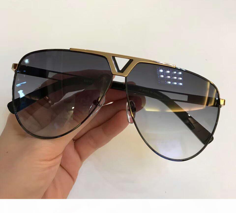 Diseñador de los hombres gafas de sol 2314U Pilote Oro Negro Gris Lenes Diseñador sonnenbrille Gafas de sol Gafas nuevo con la caja